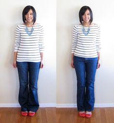 Algumas dicas para você colocar mais estilo em seu look! 1- Proporções No look abaixo, bem básico, na primeira...