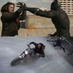 T'Challa ( Chadwick Boseman) James Buchanan Barnes ( Sebastian Stan) Captain America Civil War