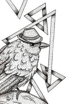 Case Pássaro (Pontilhismo) do Studio Ducapb por R$55,00