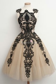 Simple-dress Handmade A-line Black Lace Short Tulle 2015 Homecoming Dresses/Party Dresses TUHD-70824
