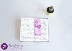 Punto de libro ilustrado FLAMENCO y RAMAS / por beacbarros en Etsy