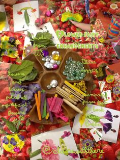 I love this book 'blossom buddies' and it really inspired my nursery children to create and experiment with enhancements. I tried it both with plasticine and with play dough and they got on a lot better with the play dough :)