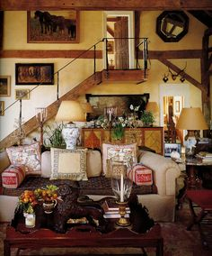 Bunny Williams-such an inviting room with character