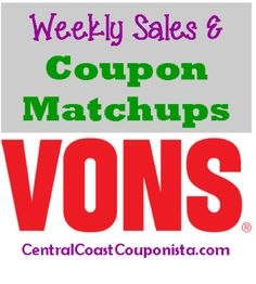Vons Coupon Matchups: Oct 15 - 21
