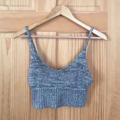 Crochet bralette Knit bralette or cropped tank. Pins and needles Pins & Needles Tops Crop Tops