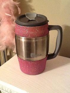 Glittered Insulated Mug / Bubba Keg by SparkleHeadToToe on Etsy, $25.00