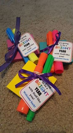 Welcome back gifts for teachers & staff from PTA