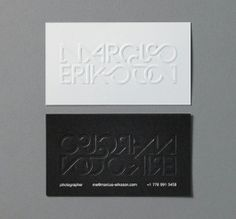 Embossed Business Cards - Delicious