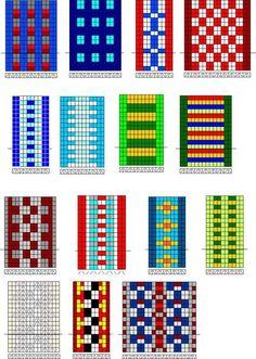 Imagen relacionada Inkle Weaving Patterns, Weaving Textiles, Bead Loom Patterns, Loom Weaving, Finger Weaving, Inkle Loom, Card Weaving, Bead Loom Bracelets, Cross Stitch Borders