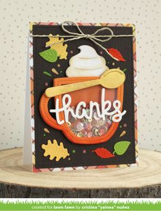 Lawn Fawn Blog, Lawn Fawn Stamps, Interactive Cards, Christmas Post, Fall Cards, Holiday Cards, Christmas Cards, Shaker Cards, Autumn Theme