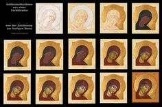 Gelaat-face of Mary Religious Icons, Religious Art, Religious Images, Byzantine Icons, Byzantine Art, Virgin Mary Art, Face Icon, Russian Icons, Religious Paintings