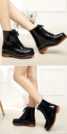 Women's Non-Slip Waterproof Shoes,Short Tube Martin Rain Boots,Water Shoes