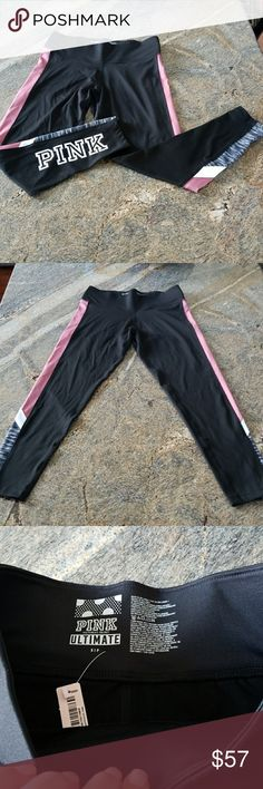 """PINK Victoria's Secret Ultimate leggings NWT size small. Super cute ULTIMATE leggings with """"PINK"""" written Down the back of the right leg. Bundle with other items to save on price and shipping! PINK Victoria's Secret Pants Leggings"""