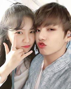 Jungkook x Yeri Ulzzang Korean Girl, Ulzzang Couple, Cute Couple Art, Best Couple, Kpop Couples, Cute Couples, South Korean Girls, Korean Girl Groups, Jungkook Selca