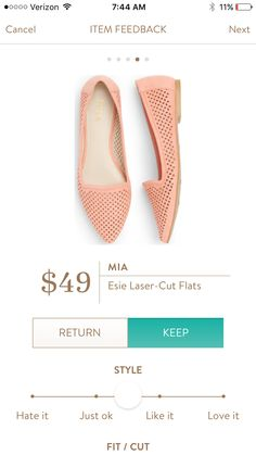 Love the cut and color of these Mia Esie Laser Cut Flats!