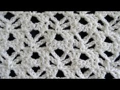 Crochet tutorial that teaches you how to this very nice lacy stitch that remind…