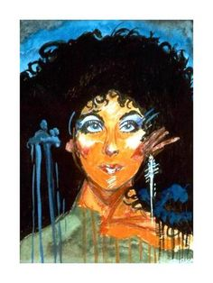 Items similar to Cher-watercolor, print from my art on Etsy Cher, Watercolor Print, Painting Prints, Disney Characters, Fictional Characters, Original Paintings, My Arts, Creatures, Etsy