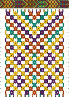 Normal Friendship Bracelet Pattern #3904 - BraceletBook.com