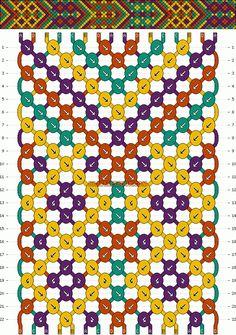 Normal Friendship Bracelet Pattern #3904 - BraceletBook.com