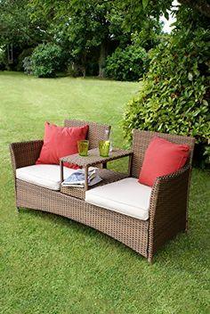 Rio Bronze Weave 2 Seat Companion Love Bench Price Β£299 http://www.uk-rattanfurniture.com/product/new-roma-rattan-wicker-weave-garden-furniture-patio-conservatory-sofa-set-includes-outdoor-furniture-cover/