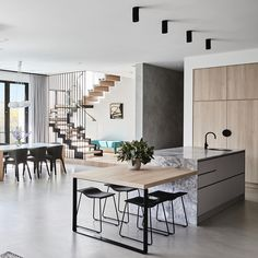 35 Modern Kitchen Ideas Balancing Natural Wood Impressions Trending Best Modern Kitchen Design Accentuated by Exotic Wooden Elements Part Home Decor Kitchen, Interior Design Kitchen, Modern Interior Design, Home Kitchens, Kitchen Ideas, Modern Kitchens, Kitchen Modern, Dream Kitchens, Kitchen Layout
