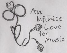 Sitting around playing with my headphones in school and I make the infinity symbol, sounded like a good idea to draw.