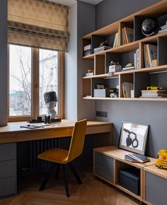 Small Room Design, Home Room Design, Home Office Design, Home Interior Design, House Design, Home Study Design, Design Desk, Modern Home Offices, Small Home Offices