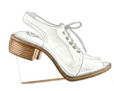 "Fashion Illustration 5 x 5"" Archival Quality Giclee Print - Jeffrey Campbell Float. $6.00, via Etsy."