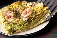 Pesto and Pea Lasagna Recipe - Chowhound Lasagne Au Pesto, Pasta Recipes, Cooking Recipes, Lasagna Recipes, Dinner Recipes, Sausage Lasagna, Cannabis, Homemade Lasagna, Fall Dinner