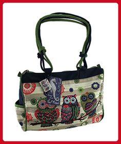 Paul Brent Groovy Owl Tote Handbag One Size Multi - Hobo bags (*Amazon Partner-Link)
