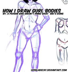 how to draw gurl bodies kindasortanotreally by UrsulaDecay