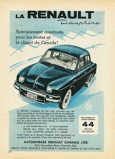 1959 Renault Dauphine Ad #3 by aldenjewell, via Flickr