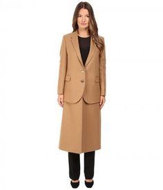 Neil Barrett - Hybrid Long Double Layer Wool Coat (Camel) Women's Coat
