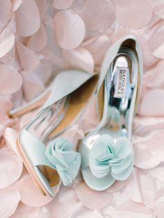 Brautschuhe, hellblau, High Heels, Hochzeit