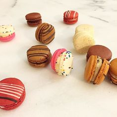 Someone knows how to cheer me up after a long day at work  // I'm in LOVE with these mini macarons by @bakedbymelissa // #bbm #glutenfree #bakedbymelissa #macarons #nyc #gf #gfree #newyorkcity #dessert #love #sweets #nom #bbmglutenfree #macaron #redvelvet #sweet #yum by theglutenfreegal