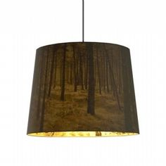 Another beautifully lampshade from Nicolette Brunklaus. The Shady Tree has a traditional form and function, but is lined with woodland imagery that appears when the light is switched on, casting a rich range of shadows and adding depth and complexity to your space.