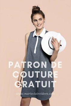 Patron de couture gratuit pour coudre une robe sans manches - I AM Patterns & Marie Claire Idées