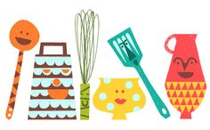 illustrations by Debbie Powell for Jamie Oliver and Tesco.