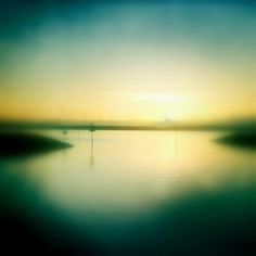 Rising Sun Print Seaside Photography Decor Golden by HeyHarriet, $6.00
