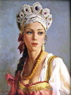 Русские красавицы... Художник Владислав Нагорнов. Russian beauties ... Artist Vladislav Nagornov