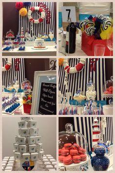 Nautical theme Candy Buffet Candy Bar Dessert Bar