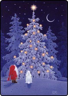 """Eva Melhuish et . Nissi - """"Impressions plus de connaissances . Christmas Scenes, Noel Christmas, Vintage Christmas Cards, Christmas Pictures, Winter Christmas, Christmas Crafts, Christmas Decorations, Xmas, Outdoor Christmas"""