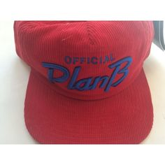 Plan B SKATE RED CORDUROY SNAPBACK HAT. Get the lowest price on Plan B SKATE RED CORDUROY SNAPBACK HAT and other fabulous designer clothing and accessories! Shop Tradesy now