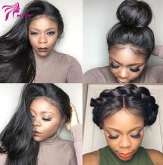 Luffy Hair Pre Plucked Brazilian Silky Straight Glueless Human Hair Full Lace Wig With Baby Hair For Black Women