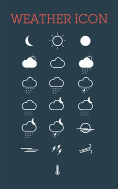 Weather Icon Set #freepsdfiles #photoshoppsd #uikits #psdtemplates #vectorgraphics #psdbackgrounds