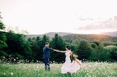 Adorable wedding photo of the bride and groom. Wedding photography | outdoor wedding | vermont wedding | sunset wedding