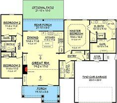 3 Bedroom Craftsman Home Plan - 11777HZ | 1st Floor Master Suite, CAD Available, Craftsman, Metric, Northwest, PDF, Photo Gallery, Ranch, Split Bedrooms | Architectural Designs