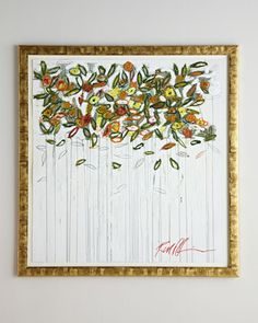 """Drip Flower Abstract by Rosenbaum Fine Art at Horchow 