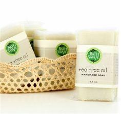 Tea Tree Oil Handmade Soap - naturally anti-bacterial, anti-fungal