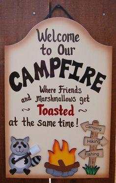 novetly signs for camping | Camping Sign